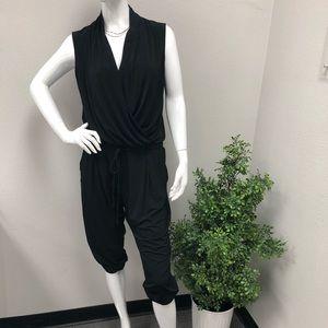 DKNY Black Sleeveless Jumpsuit Sz Medium
